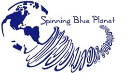 Logo Spinning Blue Planet